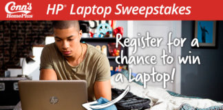 Conn's HomePlus - Win Free HP Laptop Sweepstakes