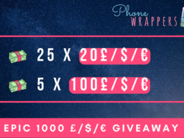 Phone Wrappers $1000 Paypal Cash Giveaway