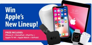 Win iPhone X + Apple iPad Pro And Other Exciting Prizes