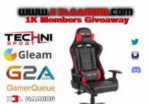 X3L Gaming Technisport Gaming Chair Giveaway